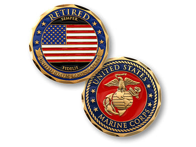 Marine Retired coin