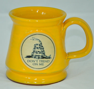 Gadsden pottery mug - yellow