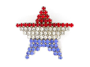 Red, White and Blue Star Pin