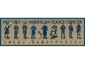 History of the American Police Officer poster