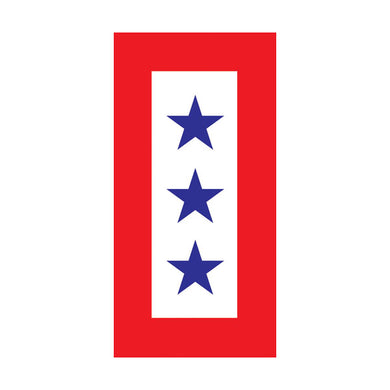 Three Blue Star Service magnet