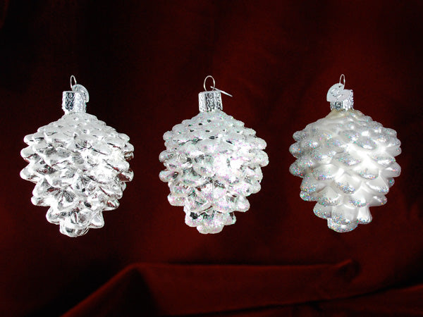 Snowy Cones ornament set