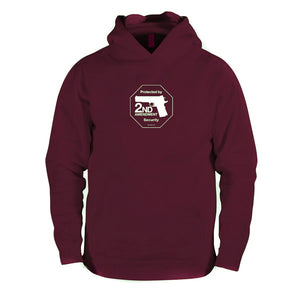Second Amendment hooded sweatshirt - Maroon