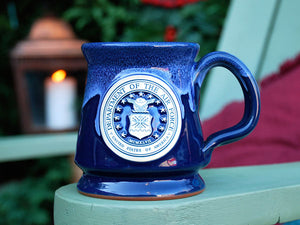 Air Force pottery mug