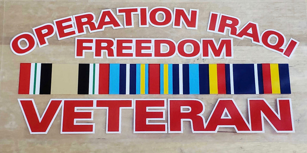 Operation Iraqi Freedom decal