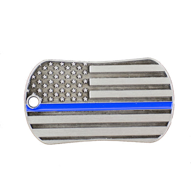 Blue Line Law Enforcement Shield of Strength - Matthew 5:9