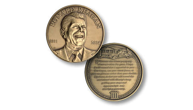 Ronald Reagan bronze medallion