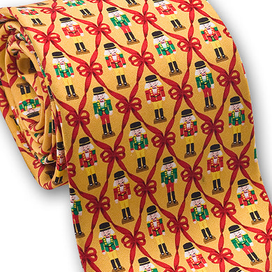 Nutcracker Christmas tie - gold
