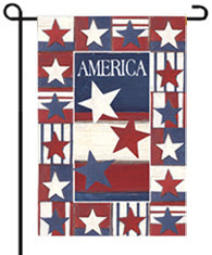 Land of Liberty garden flag