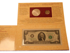 1993 Jefferson Two Coin Set C&C