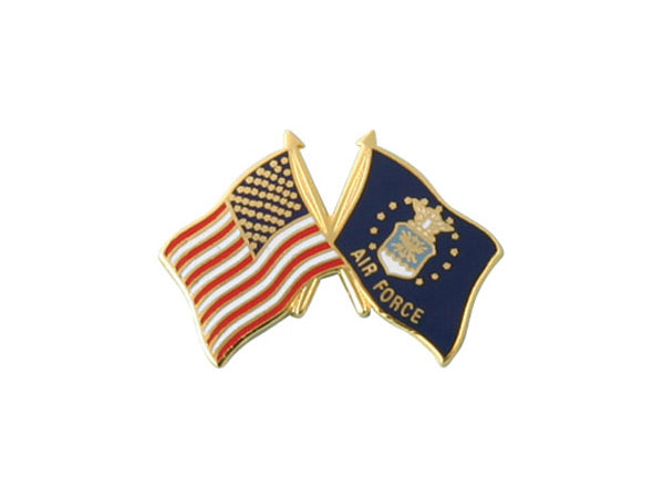 Air Force Crossed Flag pin