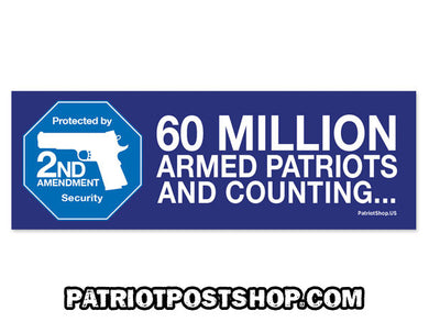 60 Million Armed Patriots sticker