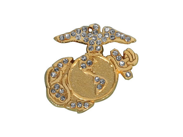 Marine Gemstone lapel pin