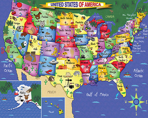 US Map Floor puzzle - 48 pc. for age 4+