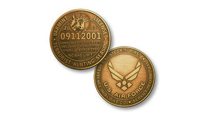 "Air Force ""Hunting"" license coin"