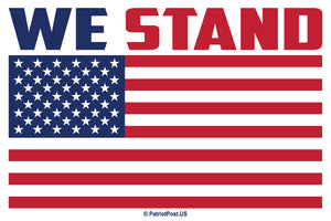 WE STAND sticker