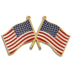 Crossed Flag pin - USA