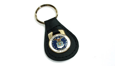 Air Force leather keychain