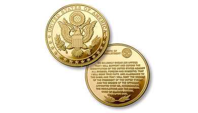 Great Seal - Oath of Re-Enlistment coin