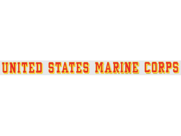 Marine Corps window strip decal