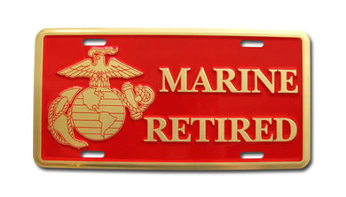 Marine Retired license plate