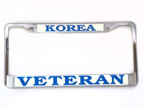 Korea Veteran license plate frame