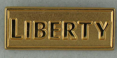 Liberty lapel pin - gold