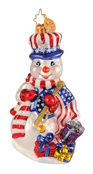 Radko Red White 'n' Cool ornament
