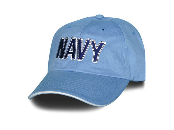 Navy hat - Baby Blue