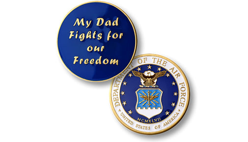 My Dad Fights -- Air Force coin