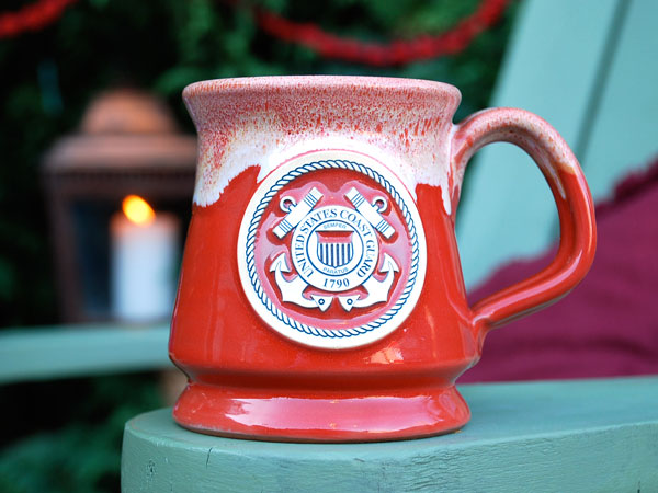 Coast Guard pottery mug