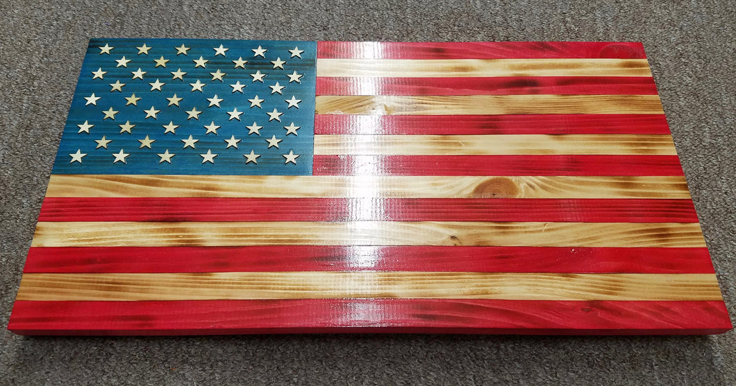 Veteran-Made Wooden Flag - full color