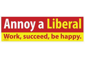 Annoy a Liberal Work Succeed sticker
