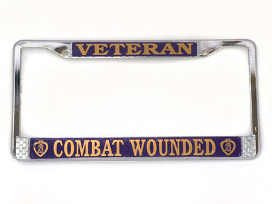 Purple Heart Veteran license plate frame