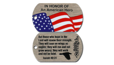 In Honor of An American Hero shield - Isaiah 40:31