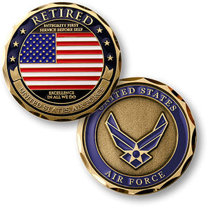 Air Force Retired coin