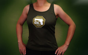 Overstock Sale - 2nd Amendment Security women's tank -- Army green S, XL