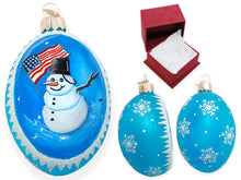 Load image into Gallery viewer, Patriotic Snowman ornament