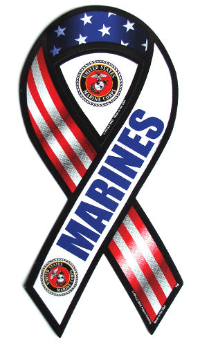 Marines ribbon magnet