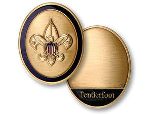 Tenderfoot rank coin