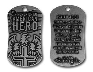 In Honor of An American Hero - rugged pewter