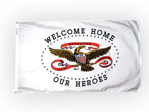 Welcome Home Heroes flag - 3' x 5'