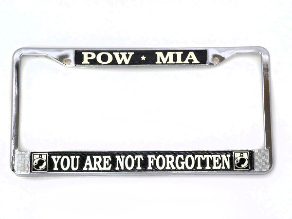 POW/MIA license plate frame