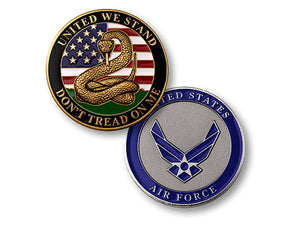"""Don't Tread on Me""  Air Force coin"