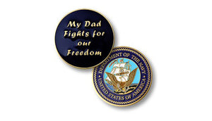 My Dad fights -- Navy coin