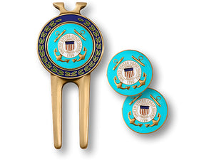 Coast Guard Divot Tool and Ball Marker Set