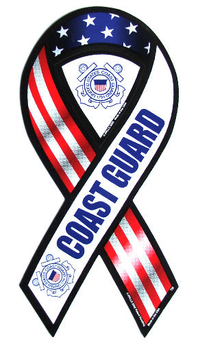 Coast Guard ribbon magnet