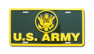 Army license plate - green