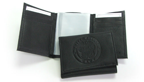 Navy leather wallet