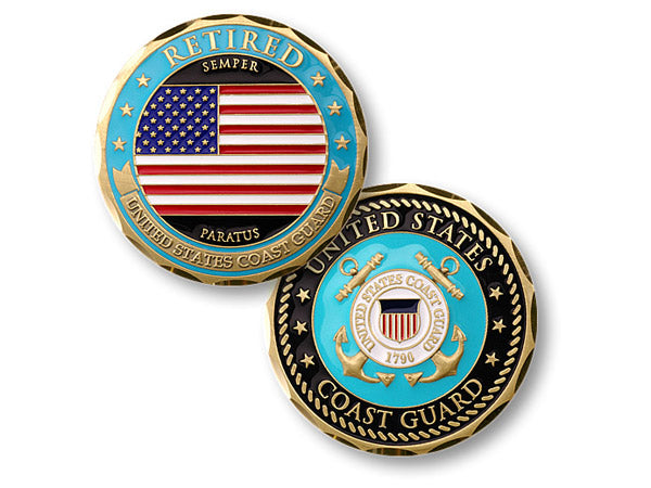 Coast Guard Retired coin